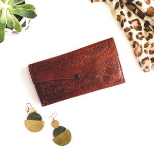Vintage Mexican Hand Tooled Leather Wallet